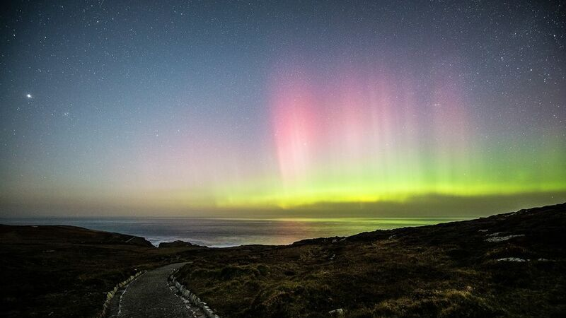 medium-The Aurora Borealis in the night sky over Malin Head
